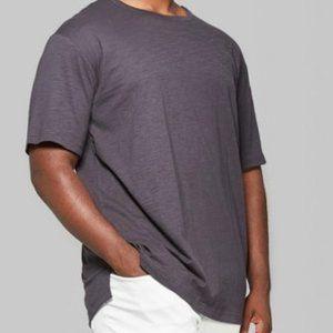 Men's Short Sleeve Drop Shoulder Slub T-Shirt - S